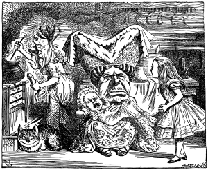Tenniel's Duchess from Alice